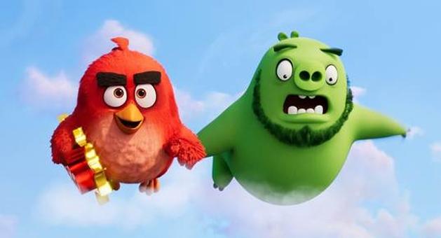 Cena de Angry Birds 2 - O Filme é revelada no evento no Festival de Cannes