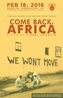 Come Back, Africa - Poster / Capa / Cartaz - Oficial 2