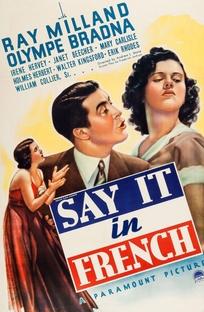 Diga-me em Francês - Poster / Capa / Cartaz - Oficial 1