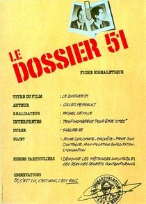 Le dossier 51 - Poster / Capa / Cartaz - Oficial 1