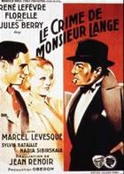 O Crime do Sr. Lange  - Poster / Capa / Cartaz - Oficial 1