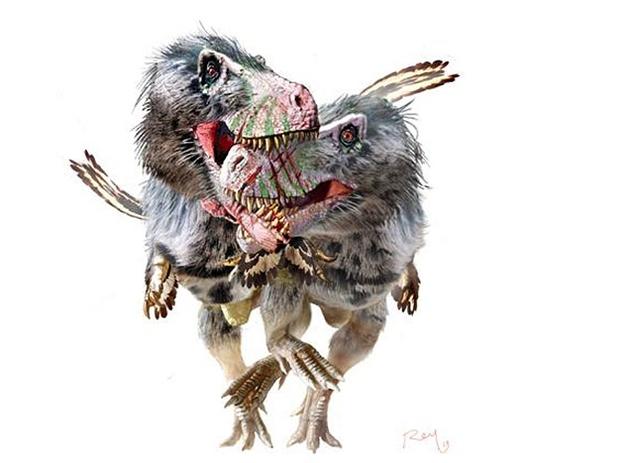 Tiranossauros eram galinhas gigantes canibais!