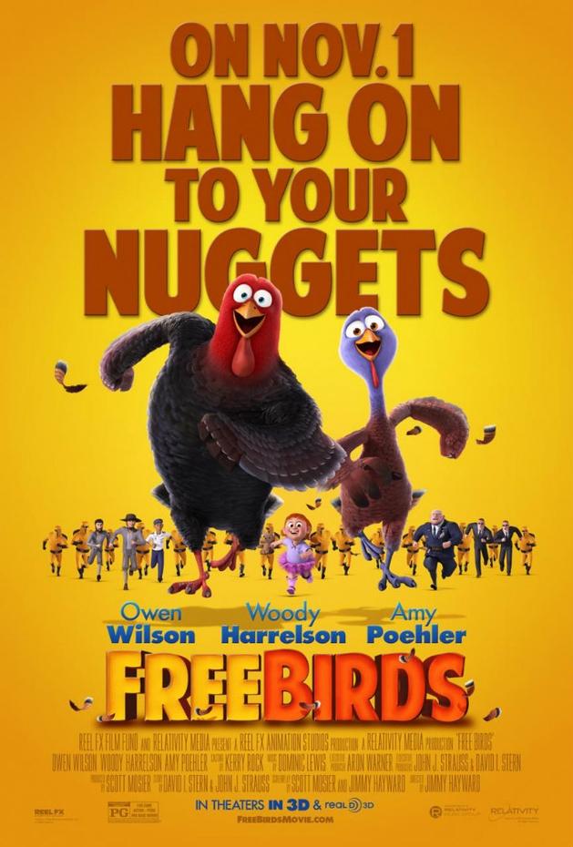 """Animação """"Free Birds"""" tem cena """"Máquina do Tempo"""" liberada"""