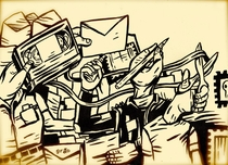 "Fanzineiros do Século Passado. Capítulo 1: As dificuldades para botar o bloco na rua e a rede social analógica"" - Poster / Capa / Cartaz - Oficial 1"