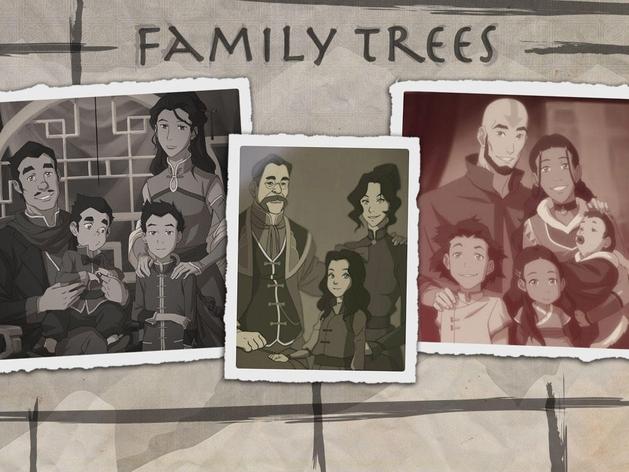 A Lenda de Korra: veja as árvores genealógicas dos personagens da série