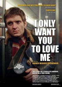 Eu Só Quero Que Vocês me Amem - Poster / Capa / Cartaz - Oficial 1