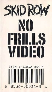 Skid Row - No Frills Video - Poster / Capa / Cartaz - Oficial 1