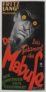 O Testamento do Dr. Mabuse - Poster / Capa / Cartaz - Oficial 5