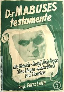 O Testamento do Dr. Mabuse - Poster / Capa / Cartaz - Oficial 9
