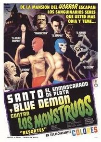 Santo e Blue Demon Contra os Monstros - Poster / Capa / Cartaz - Oficial 1