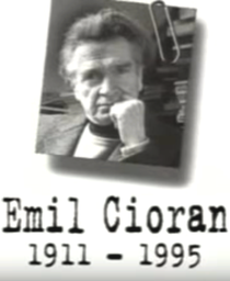 Un Siècle d'Écrivains: Emil Cioran - Poster / Capa / Cartaz - Oficial 1