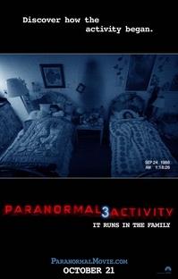 Atividade Paranormal 3 - Poster / Capa / Cartaz - Oficial 1