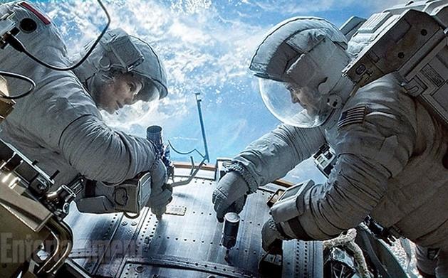 Sandra Bullock e George Clooney em nova foto de 'Gravidade'