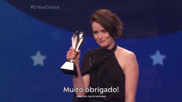 Claire Foy é homenageada no Critics' Choice Awards