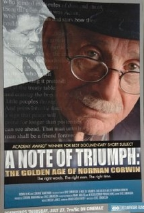 A Note of Triumph: The Golden Age of Norman Corwin - Poster / Capa / Cartaz - Oficial 1