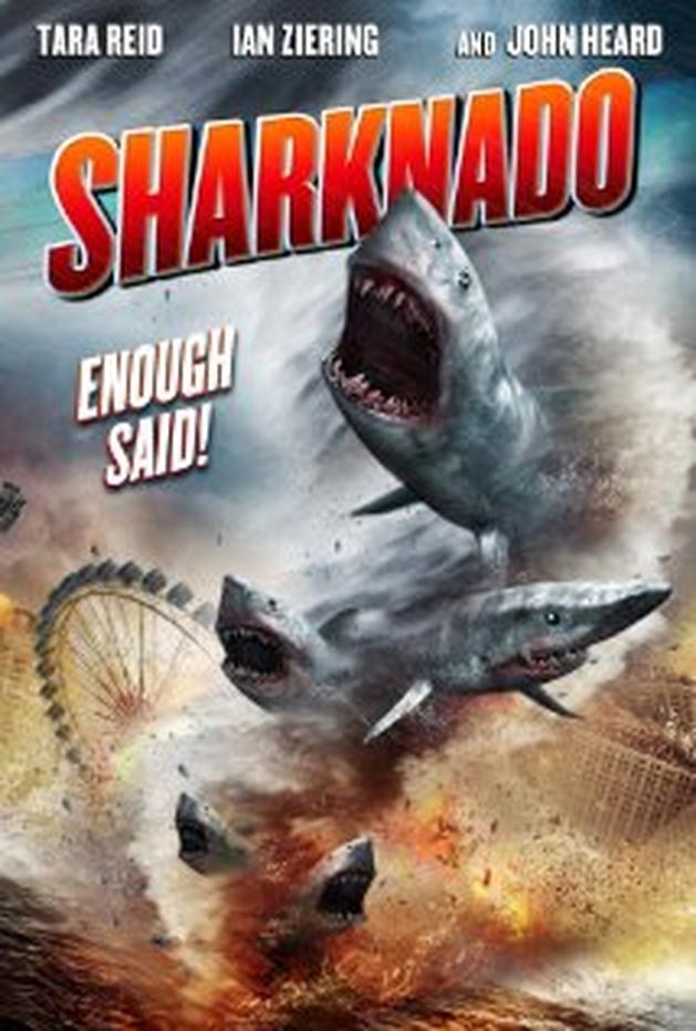 """Tubarões sugados por um tornados atirados em Los Angeles em trailer violento de """"Sharknado"""""""