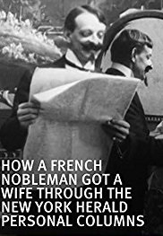 How a French Nobleman Got a Wife through the New York Herald Personal Columns - Poster / Capa / Cartaz - Oficial 1