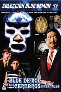 Blue Demon Contra Cerebros Infernales - Poster / Capa / Cartaz - Oficial 3