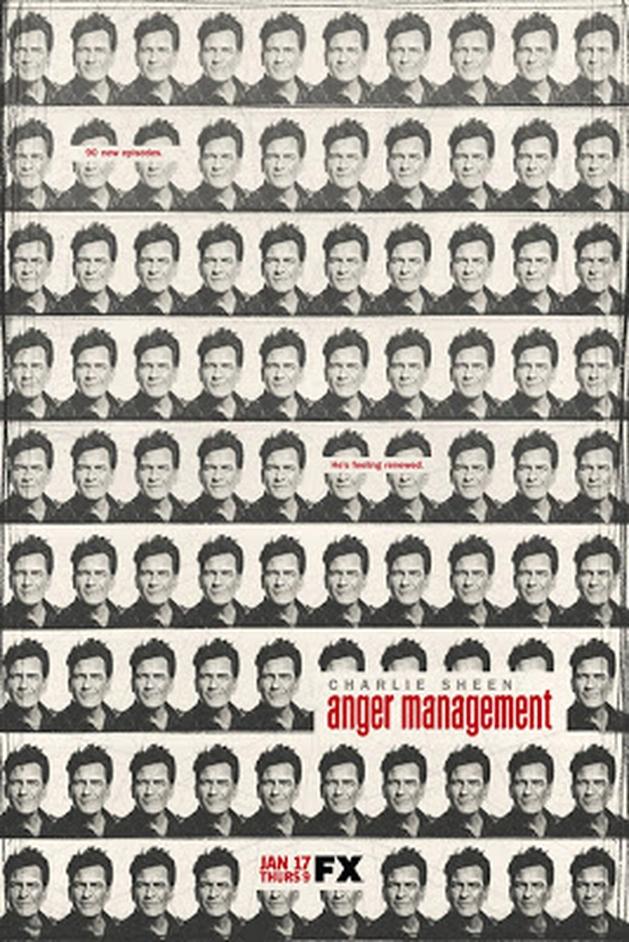 Charlie Sheen é reproduzido 90 vezes em novo poster