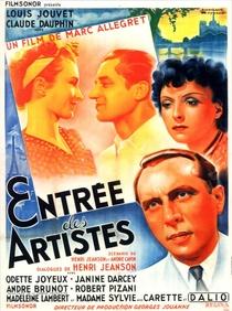 Entrée des artistes - Poster / Capa / Cartaz - Oficial 1