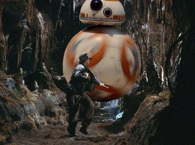 Star Wars: Indiana Jones é perseguido por BB-8, e storm troppers são avistados em autoestrada