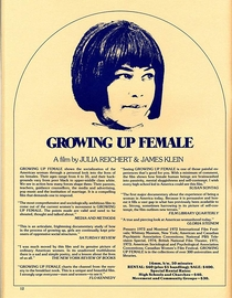Growing Up Female - Poster / Capa / Cartaz - Oficial 2