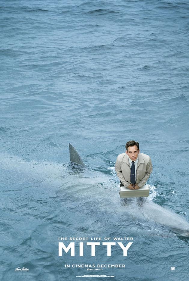 """Ben Stiller em mais um pôster de cômico de """"The Secret Life of Walter Mitty"""""""