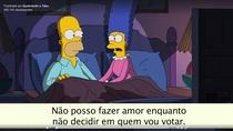 Simpsons - Decidindo o voto para presidente dos EUA - Poster / Capa / Cartaz - Oficial 1