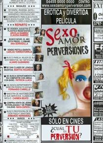Sexo, Amor y Otras Perversiones - Poster / Capa / Cartaz - Oficial 1
