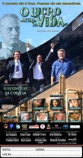 O LUCRO ACIMA DA VIDA - Poster / Capa / Cartaz - Oficial 1