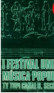 I Festival Universitário da TV Tupi de São Paulo - Poster / Capa / Cartaz - Oficial 1