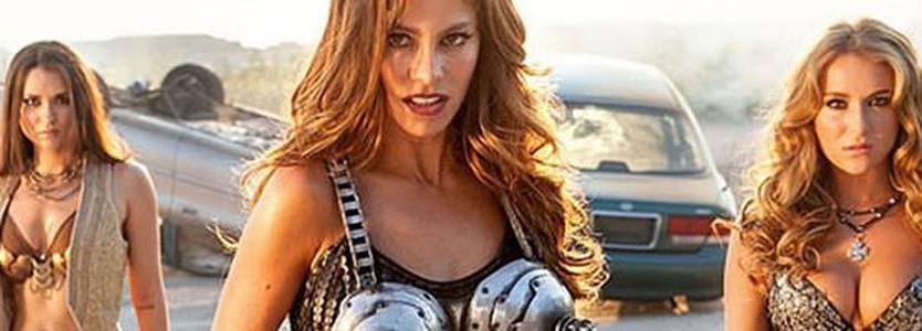 Perseguição e sutiã metralhadora no insano clipe de MACHETE MATA, com Danny Trejo, Lady Gaga e Sofia Vergara | LOUCOSPORFILMES.net