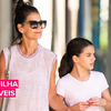Katie Holmes e sua filha Suri treinam juntas