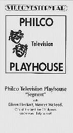 The Philco Television Playhouse: (3ª Temporada)  - Poster / Capa / Cartaz - Oficial 1