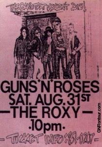 Guns N' Roses Live at The Roxy - Poster / Capa / Cartaz - Oficial 1