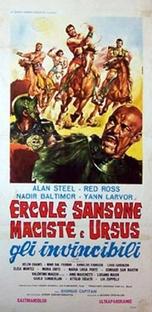 Hércules, Sansão, Maciste e Ursus, Os Invencíveis - Poster / Capa / Cartaz - Oficial 1