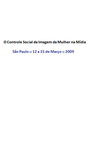 O Controle Social da Imagem da Mulher na Mídia - Poster / Capa / Cartaz - Oficial 1