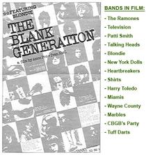 The Blank Generation - Poster / Capa / Cartaz - Oficial 1