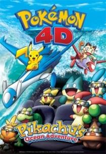 Pokemon 4D: Pikachu's Ocean Adventure - Poster / Capa / Cartaz - Oficial 1