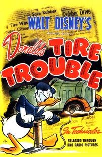 Donald's Tire Trouble - Poster / Capa / Cartaz - Oficial 1