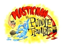 Plastic Man in Puddle Trouble - Poster / Capa / Cartaz - Oficial 1