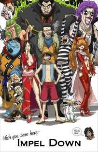 One Piece: Saga 7 - Impel Down - Poster / Capa / Cartaz - Oficial 1