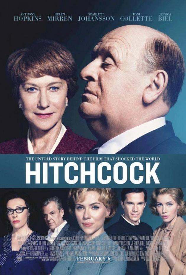 Anthony Hopkins e Helen Mirren em destaque no novo cartaz de Hitchcock!