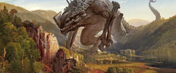 Artista pinta monstros e robôs gigantes da cultura pop em paisagens bucólicas