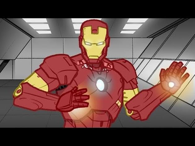 Homem de Ferro: Animação resume os 3 filmes do herói em 2 minutos