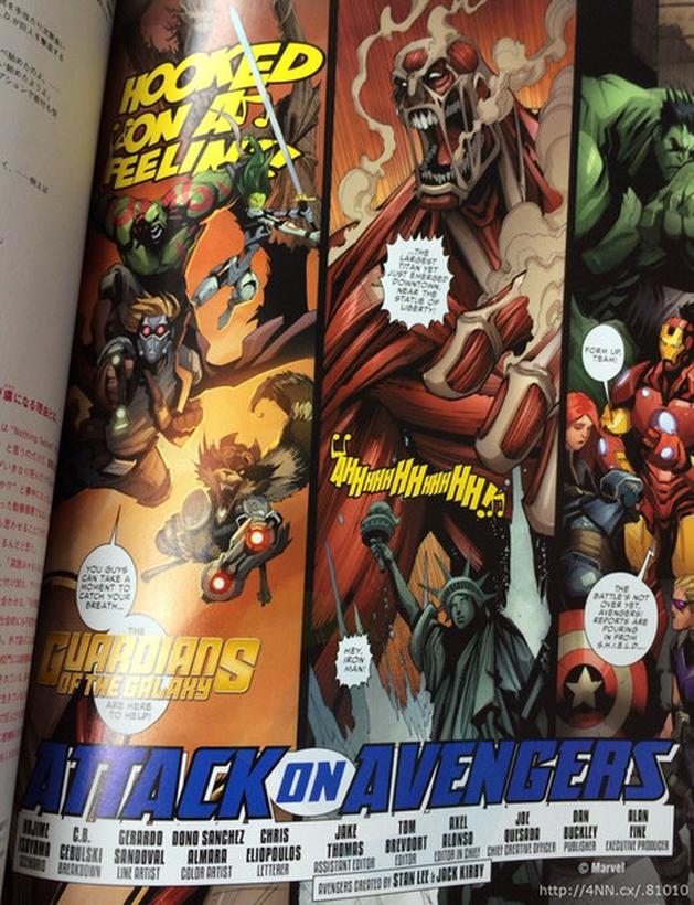 Attack on Avengers: novas artes do encontro dos Heróis Marvel com Ataque dos Titãs