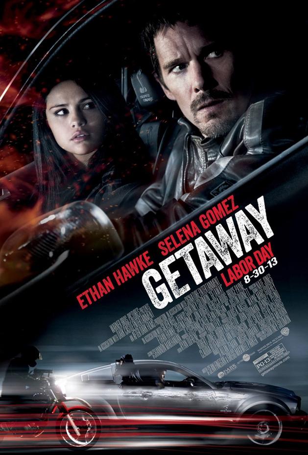 "Selena Gomez e Ethan Hawke no novo pôster de ""Getaway"""