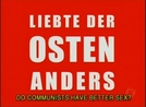 Do Communists Have Better Sex? (Liebte der Osten Anders)