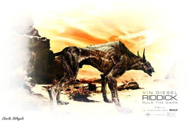 """Cão medonho aparece em nova imagem promocional de """"Riddick"""""""