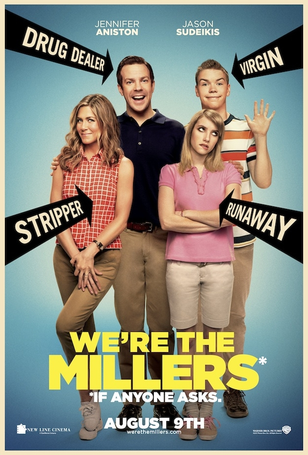 "Jennifer Aniston em trailer da comédia ""We're the Millers"", com traficantes e stripers"